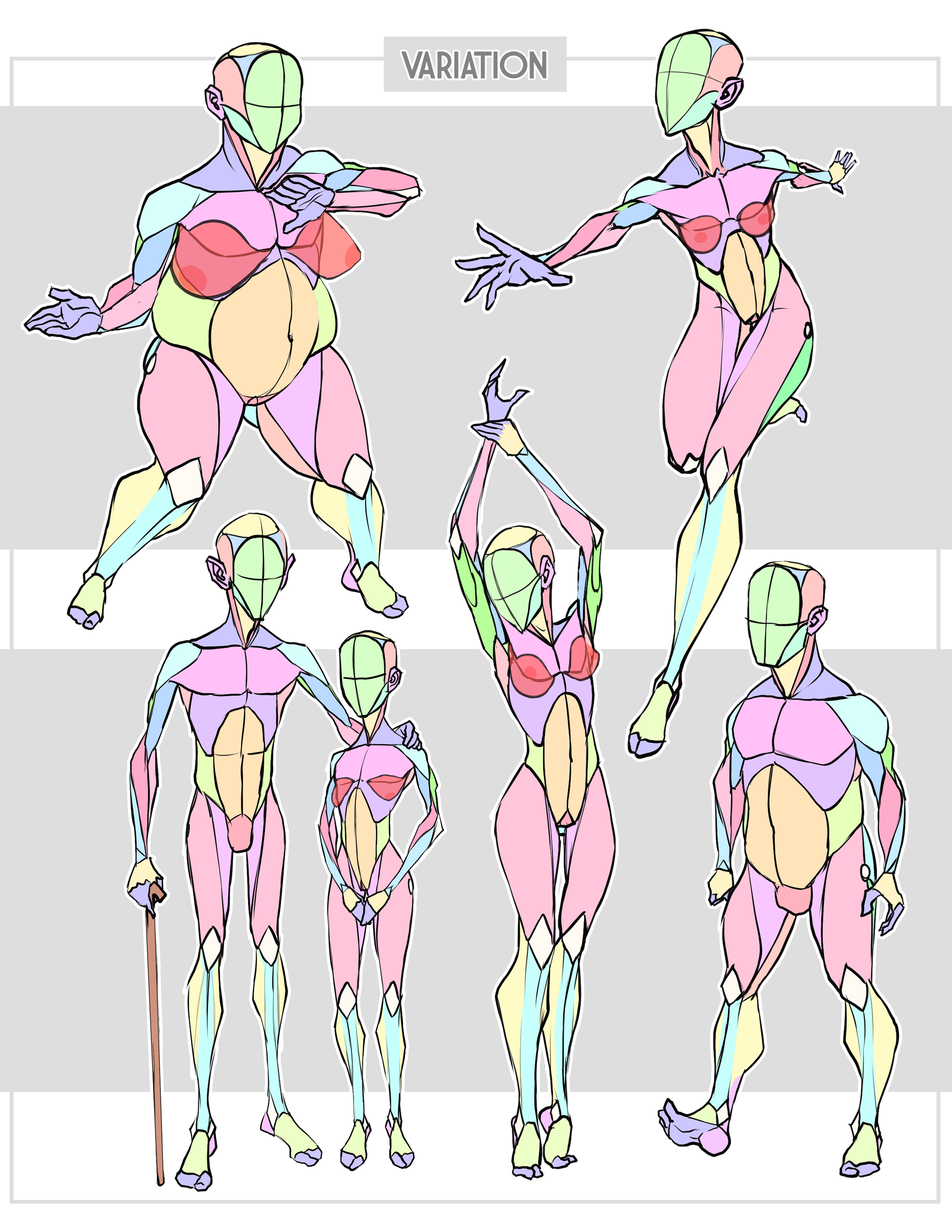 Figure Drawing Tools: Line of Action Quickposes Sketchdaily ...
